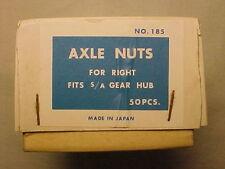 Vintage Sturmey Archer 3 speed hub Axel Nuts lot 50 nos