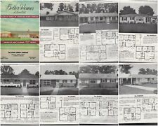 BETTER HOMES OF LOWER COST TRADITIONAL MODERN HOUSE PLANS 1940S ATOMIC RANCH STY