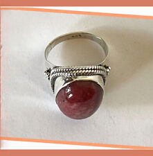 Artisan Created Hand Crafted Natural Agate Sterling Silver Ring from India!