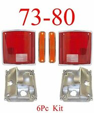 73 80 CHEVY GMC 6PC Tail Light Kit w Front Marker Lights Truck Blazer Suburban