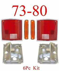 73 80 CHEVY GMC 6PC Tail Light Kit w Front Marker Lights Truck Blazer Suburban