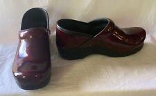 Dansko Womens Pearlized Purple Patent Leather Professional Clogs Size 38