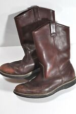Field & Stream Mens leather boots size 10.5 Vibram soles