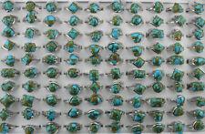 Wholesale Lots 30pcs Mixed Fashion Women Jewelry Natural Stone Gold sand Rings