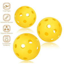 70mm Yellow Pickleball Bouncy Durable Ball for Outdoor Indoor Exercise Activity