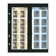 Feuilles Multi Collect Lindner noires pour carnets de timbres.