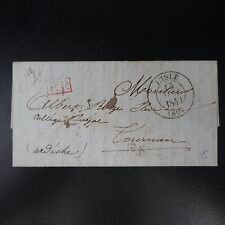 1840 LETTRE COVER CAD L'ISLE POUR TOURNON ARDÈCHE T3M + PP ROUGE