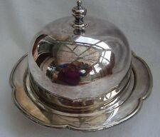 ANTIQUE COUNTRY HOUSE  QUALITY EPNS A1.SILVER PLATED MUFFIN DISH & DOMED COVER