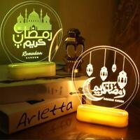 Eid Mubarak Night Light Ramadan LED Lights Muslim Islam Table Party Decoration