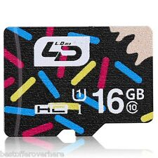 LD 16GB Micro SD Memory Card Class 10 40MB/s Storage Device 16G