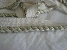 """rope cording celery beige 1/4""""  2 ply twisted Conso knitted lip 14 yards"""