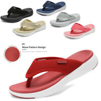 Womens Arch Support Soft Cushion Flip Flops Thong Sandals Slippers Shoes Size US