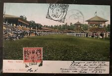 1907 Cheribon Netherlands indies Postcard Postage Due cover to Isere France