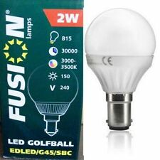3x Low Energy Saving B15 Bayonet 2W LED Golfball G45 Light Bulbs Lamp Warm White