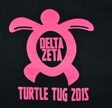 t-shirt small delta zeta sorority dz since 1902 17.5 inches pit to pit