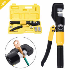 10 Ton Hydraulic Crimper Wire Battery Cable Lug Terminal Crimping Tool With 8 Dies