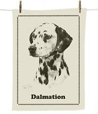 Mike Sibley Dalmatian dog breed cotton tea towel - dog lover gift