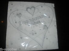 TABLE NAPKINS SERVIETTES ENGAGEMENT WISHES PARTY qty 18 HEART cp