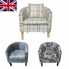 Modern Crushed Velvet Tub Chair Armchair - Bedroom Living Room Office Reception