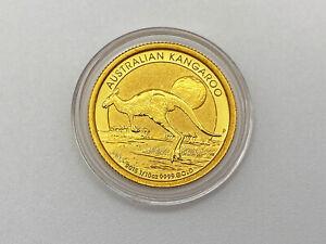 15 Dollar Gold Münze Känguru Kangaroo Australien 3,11 g, 1/10 oz, 2015 in Kapsel