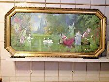 Bild alt, Stillleben,im Goldrahmen,130x64,Druck unter Glas sehr dekorativ