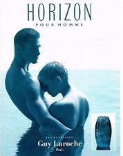 PUBLICITE ADVERTISING 114  1994  GUY LAROCHE  parfum homme HORIZON