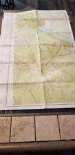 "VINTAGE RARE 1942 RESTRICTED AERONAUTICAL CHART MAP AROOSTOOK CO., ME 40"" X 2'"