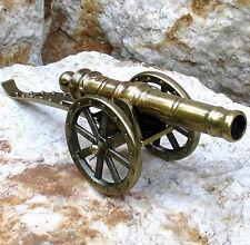Kanone Geschütz Metall Messing Feldkanone Militär Lafette Haubitze Standmodel 24