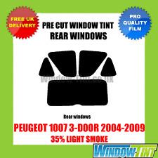 PEUGEOT 1007 3-DOOR 2004-2009 35% LIGHT REAR PRE CUT WINDOW TINT