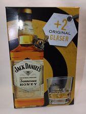 JACK DANIELS Daniel´s Honey Geschenkbox 0,7 l + 2 Tumbler Gläser TOP Rarität