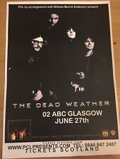 The Dead Weather - Rare Promo Gig poster, Glasgow - June 2010 (White Stripes)