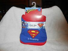 Superman Baby Bibs--Lot of 2--100% Cotton