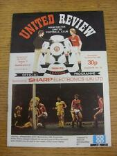 01/12/1982 Manchester United v Southampton [Football League Cup] (Crease, Score