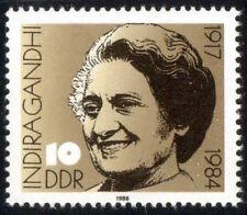 EAST GERMANY 1984-Indira Gandhi-1 Value-MNH Former Prime Minister of India