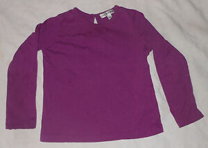 Marks Spencer Autograph Girls Purple Long Sleeve Top Button Neck Size 3-4