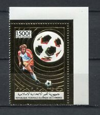 s6251) COMORES 1990 MNH** WC Football'90-CM Calcio 1v GOLD