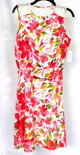 Dress Barn Women's Pink Floral Sleeveless Dress Sz 10