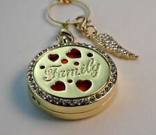 Family' Double Sided, Diffuser Necklace Locket Stainless Still 10ml Oil 11 Pads