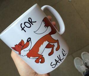 Funny For Fox Sake Mug, Ideal Birthday, Christmas Gift! Animal Loves, Comedy