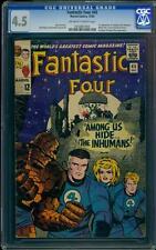 Fantastic Four 45 CGC 4.5 OW/W Silver Age Key Marvel Comic 1st Inhumans L@@K