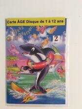 Carte disque 1 à 12 ans Joyeux anniversaire avec enveloppe