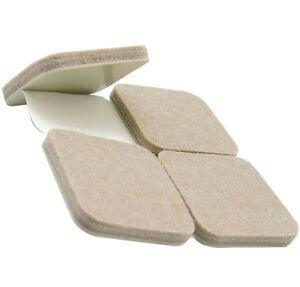 BEIGE Furniture Leg FELT PADS ~ 45mm x 45mm ~ Selfadhesive Wood FLOOR PROTECTORS
