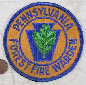 Vintage Pennsylvania Forest Fire Warden Patch