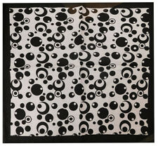 "12 Pack Black & White Bubbles Circles Polka Dot 22""x22"" 100% Cotton Bandanna"