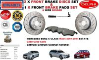 FOR MERCEDES C280 250 C320 C350 ESTATE FRONT BRAKE DISCS SET + PADS KIT + SENSOR
