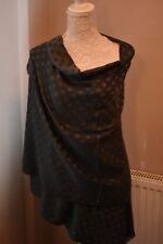 Spotty Grey black reversible pashmina scarf scarves shawl wrap present gift