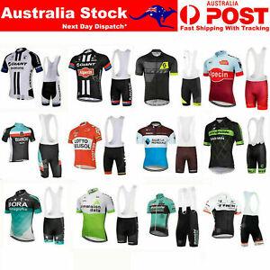 2021 Team Cycling Bike Clothing Short Sleeve Jersey Shirt Bib Padded Shorts Kits