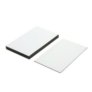 MagFlex® Lite 100mm x 60mm Flexible Magnetic Labels - Gloss White Dry Wipe (x10)