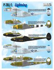 P-38 J/L Lightning: 7, 8, 20, 49 FG (1/72 decals, Iliad 72008)