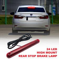 12V Tercera Luz de Freno 24 LEDs Alto Nivel Trasero Color Rojo para Coche Auto